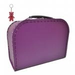 Kinderkoffer violett inkl. 1 Reflektorbärchen