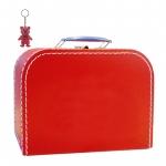 Kinderkoffer rot inkl. 1 Reflektorbärchen