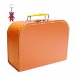 Kinderkoffer orange inkl. 1 Reflektorbärchen
