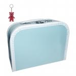Kinderkoffer (mit Borde) hellblau inkl. 1 Reflektorbärchen