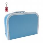 Kinderkoffer (mit Borde) blau inkl. 1 Reflektorbärchen