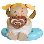"""Kugelräucherfigur """"Engel mit Lebkuchen"""" ca. 10 cm"""
